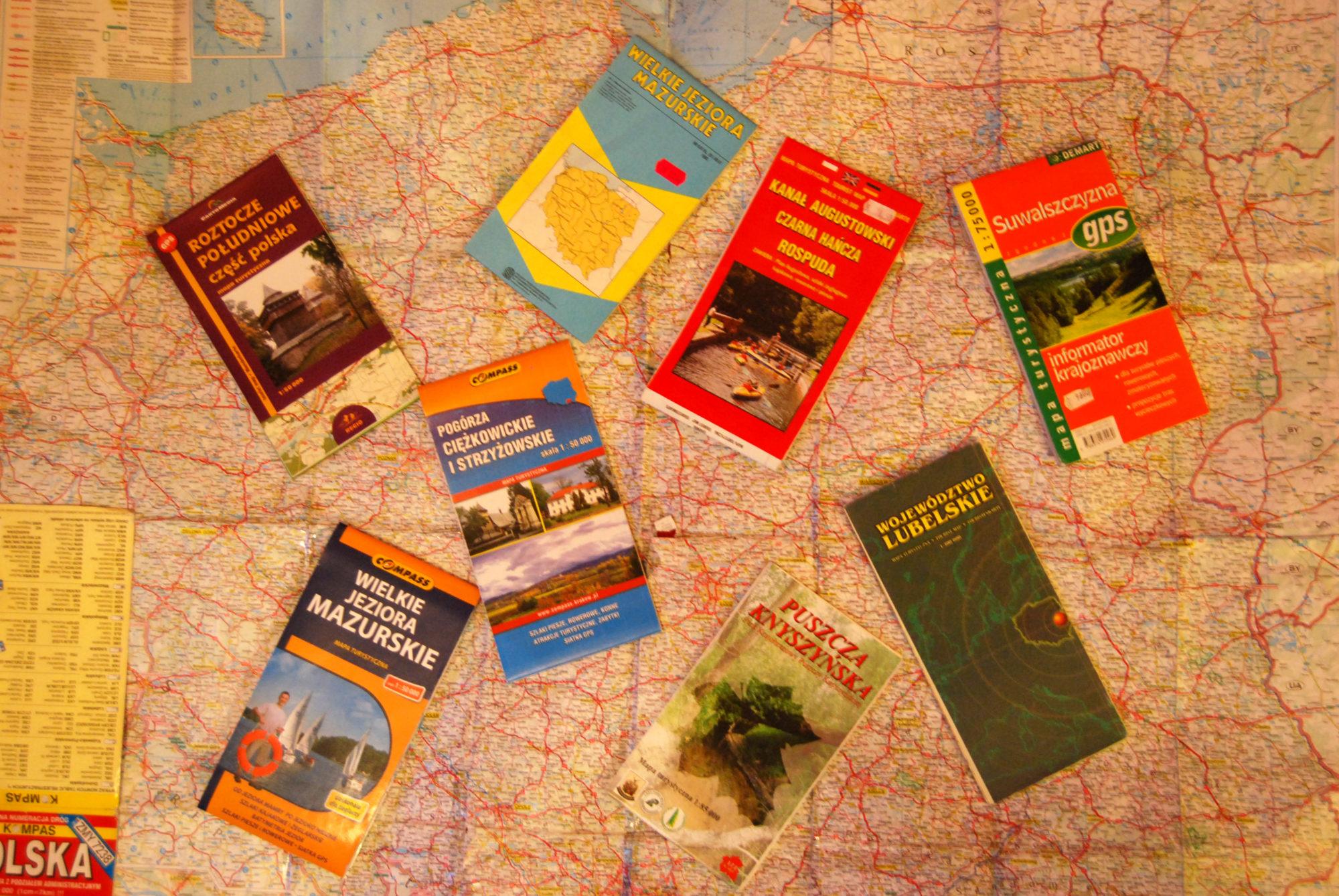 Planowanie trasy - mapy krajoznawcze