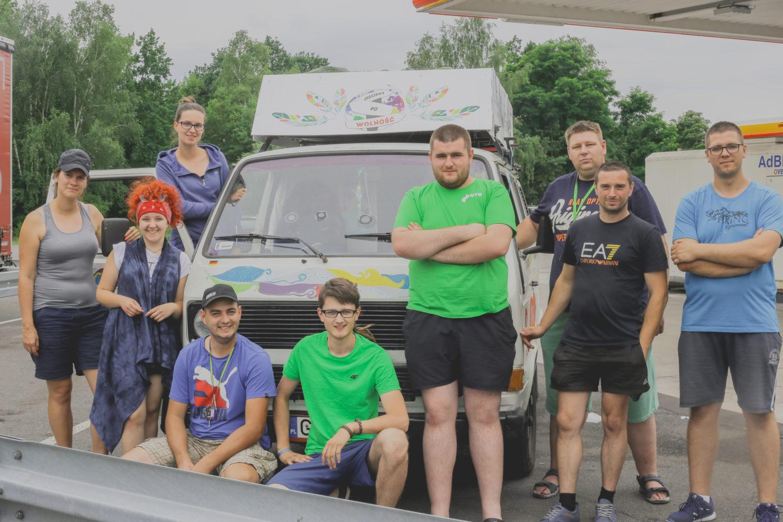 Ekipa polskich kierowców ciężarówek