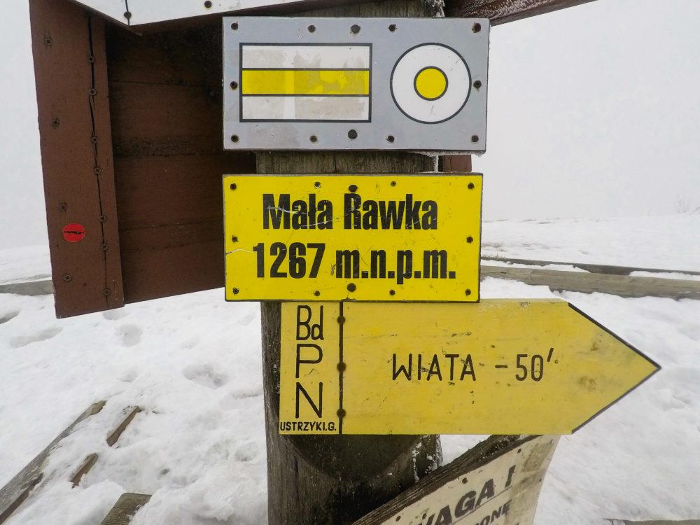 Bieszczady zimą Mała Rawka