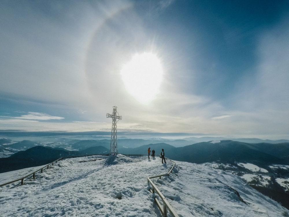 Bieszczady zimą Tarnica